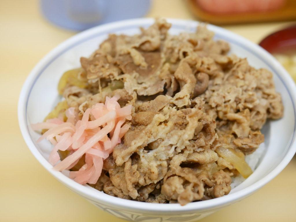 サンボ牛丼紅ショウガのせ