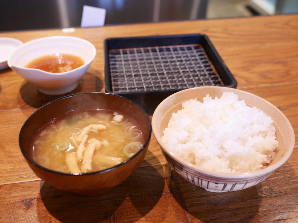 魚天ライス味噌汁出汁