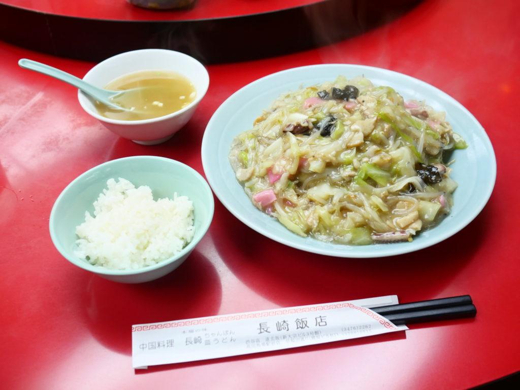 長崎飯店渋谷店皿うどん軟麺セット